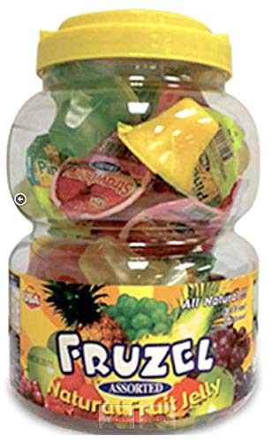 Fruzel Assorted Natural Fruit Juice Jelly Cups 51 Ounces - PACK OF 3