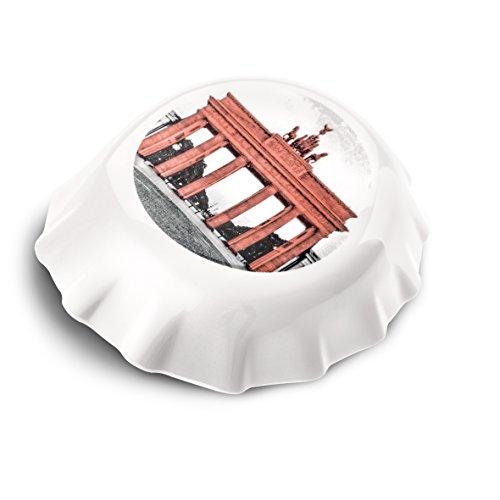 koziol Plopp  Flaschenöffner mit Druck, Thermoplastischer Kunststoff, Weiß, 8.5 x 7.7 x 2.4 cm