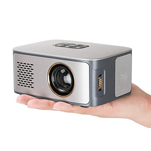 Mini LCD Projector 1000 Lumens 1000: 1 contrast ratio, met USB HDMI LED 1080P TF home cinema en stereo speakers