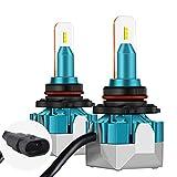 9006/HB4 Bombillas de Faros LED, imoli 6500K Blanco 11000 Lúmenes Faros - Chips CSP Luces de Repuesto para Faros de Coches de Halógeno y Xenón Kit - Tamaño más Pequeño Mejorado(Un Set)