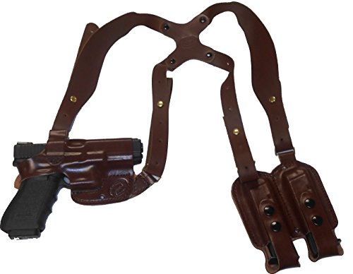 Springfield XDS 3.3 Leather Shoulder Gun Holster Horizontal RH Right Hand Brown Concealed Carry