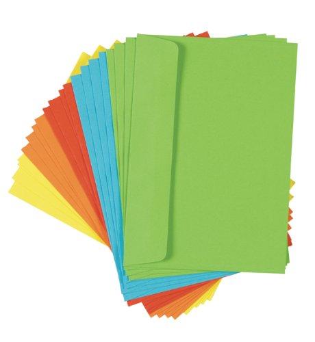 60 (3x 20) farbige Briefumschläge Din C6 bunte Kuvert
