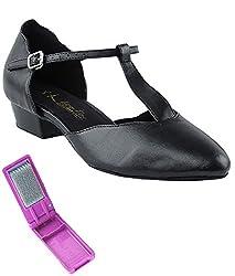 Very Fine Ballroom Salsa Practice Dance Shoes for Women 6819FT 1-Inch Heel