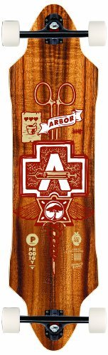 Arbor Prodigy Grip Tape Topsheet Complete Longboard, 38-Inch by Arbor