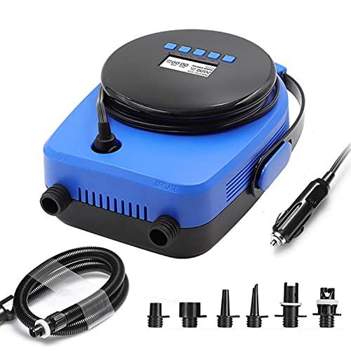 IKAYAAA Bomba de Aire eléctrica de Doble Etapa 20PSI para Bote Sup Inflable Nueva versión Firmware Inteligente con Sensor de Temperatura Incorporado y protección de Voltaje