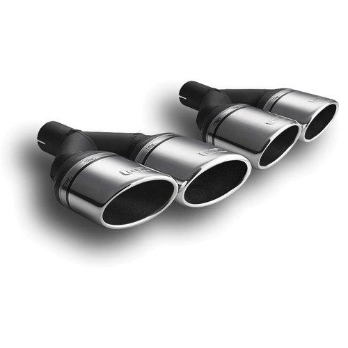 Ulter Sport N2-57* Auspuffblende, aus Edelstahl, Doppelrohr, ohne Schalldämpfer, oval, Maße: 95x65x200mm