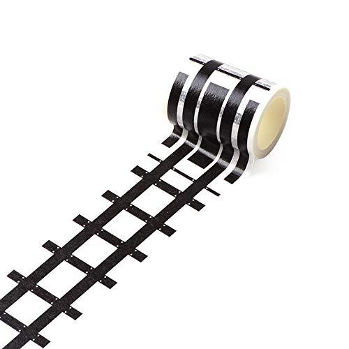 aaerp Heimwerker-Klebeband, Eisenbahn, abnehmbare Schiene, Papier, Railway Tape, 5m*4.8cm