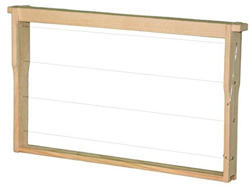 BIENEN SCHMIDT 30 Deutsch Normal Maß DNM Rähmchen/Rahmen MODIFIZIERT mit Hoffmann Seiten fertig montiert waagerechte Drahtung, Europa- Qualität, mit Edelstahldraht und Messingösen 394 x 223 mm