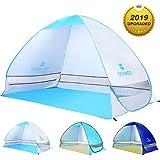 WloveTravel Tente de Plage Automatique d'extérieur, Cabine, Tente de Camping, abri de Soleil pour 2 Personnes, Bleu Gris