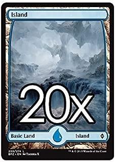 20 Battle for Zendikar Island #259 Magic the Gathering Basic FULL ART Land Lot