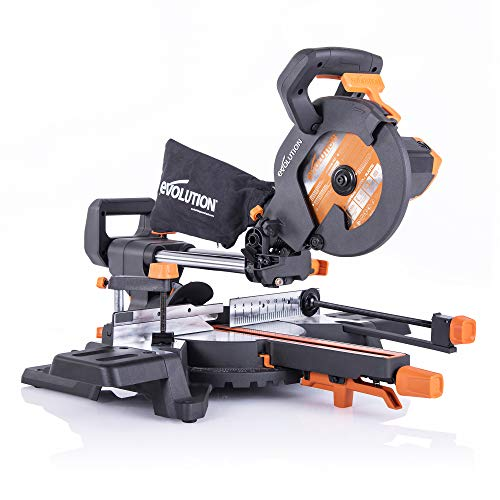 Evolution Power Tools R210SMS-300+ Ingletadora Deslizante multimaterial,con Paquete Plus, 1500 W, 230 V, 210 mm