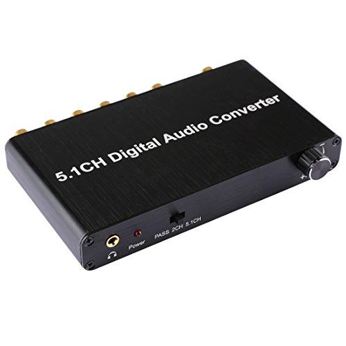 Câbles et adaptateurs Convertidor de descodificador de audio digital 5.1CH con Toslink...