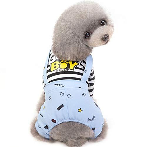 Ropa Perro de peluche, 4 patas Ropa para Mascotas, Chalecos para Transpirables y Elásticos para Perros Chaqueta Abrigo Costume - Ropa para Mascotas