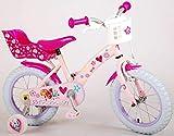 Bicicleta Infantil para niña 14 Pulgadas Paw Patrol 85% montada Rosa