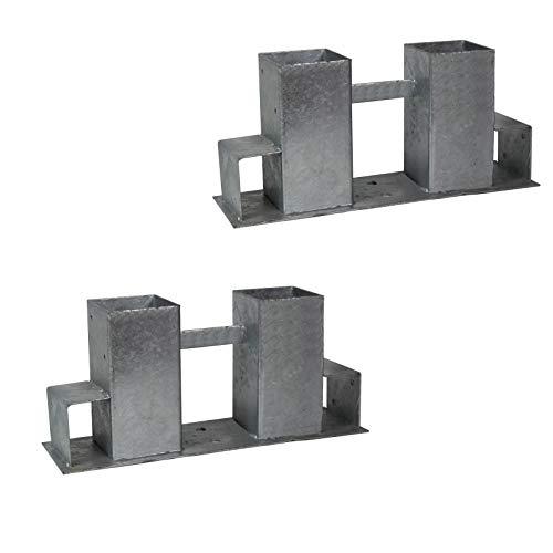 2x Holzstapelhilfe Feuerverzinkt Stapelhilfe Holzstapelhalter Brennholz Kaminholz Gestell Holz