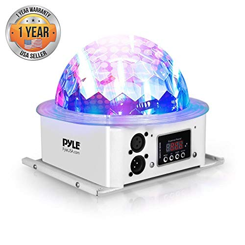 Review Ceiling Projector DJ Party Light - Disco Ball Lamp Strobe Party Stage Lights w/ RGB Color LED...