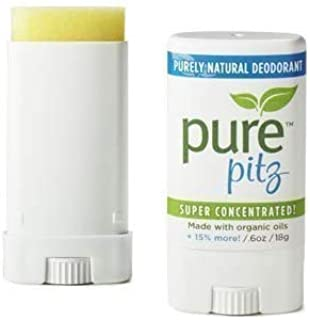 PURE PITZ Deodorant Stick, 0.6 OZ (2 Pack)