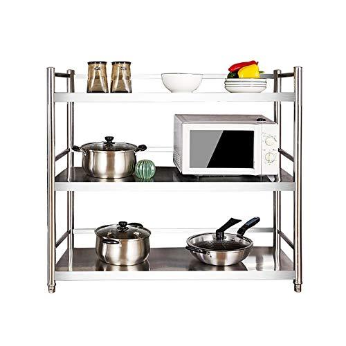 Heavy 3 Unidades de estantería de estantería, estantes de Almacenamiento de Metales, Mesa de Catering de Cocina, Adecuado para la Cocina de la Tienda de la Oficina, Cuarto de baño, 60 * 30 * 100 cm