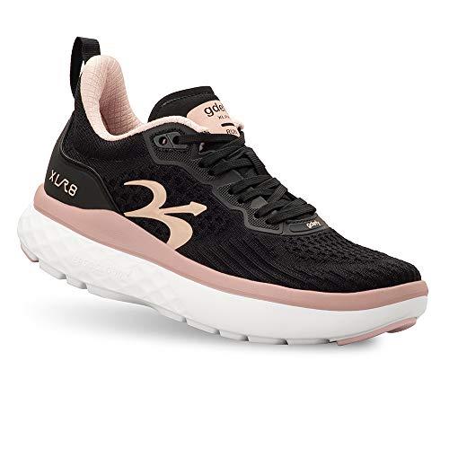 Gravity Defyer Women's G-Defy XLR8 Running Shoes 8 M US - VersoCloud Multi-Density Shock Absorbing Performance Long Distance Running Shoes Black, Pink