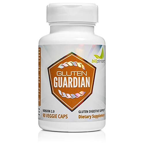 Gluten Guardian 2.0 - A Digestive Enzyme Supplement for Gluten Digestion - Contains DPP-IV to Digest Wheat, Barley & Other Cereal Grains - Helps Prevent Bloating, Gas, and Indigestion - 90 Capsules