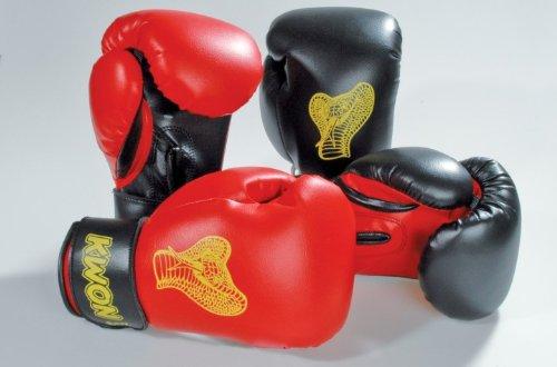 KWON Kinder Cobra Boxhandschuhe Gr. 6 oz rot/schwarz