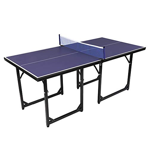Zebery Professionellt bordtennisbord för inomhus utomhus bärbart bordtennisbord, 10 minuters snabb montering fällbart pingisbord