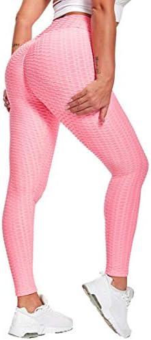 Vaslanda Womens Ruched Butt Lifting Leggings Textured Scrunched Leggings Gym Squat Proof Leggings product image