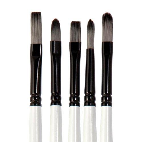 Winsor & Newton Professional acryl penseel lange greep, 5 stuks