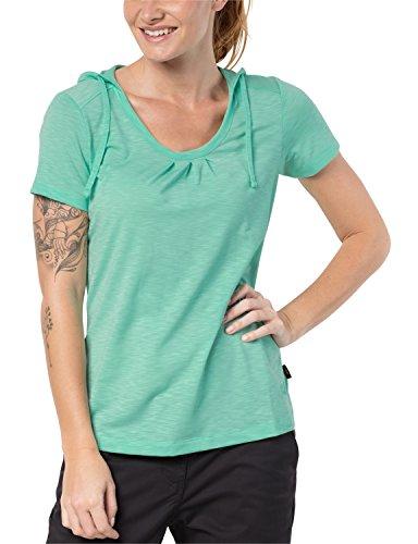 Jack Wolfskin Damen Shirt TRAVEL Hoody T Women Leicht Atmungsaktiv Kapuzen Shirt, Pale Mint, S, 1804472-4091002