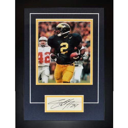 Charles Woodson Autographed Michigan Wolverines Signature Series Frame - JSA