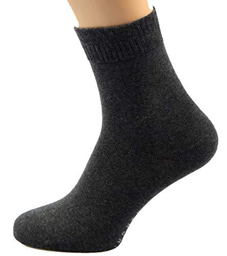 Max Lindner 5 Paar Diabetikersocken (Socken ohne Gummi) 95prozent Baumwolle 5prozent Elasthan (45-47, dunkelgrau)