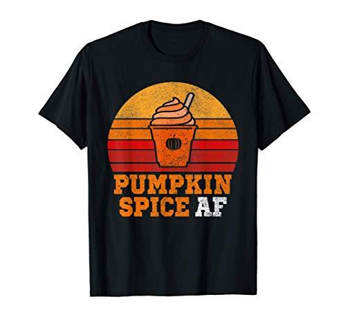 Pumpkin Spice Af Funny Men Husband Apparel Halloween Gift . T-Shirt
