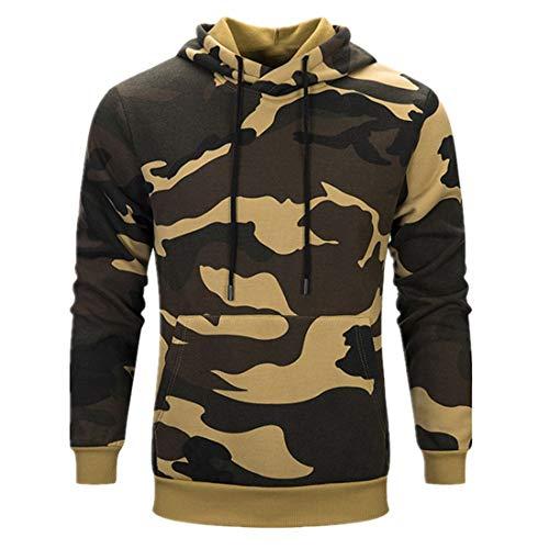 Men Sweatshirt Hoodie Hoody Sweatshirt Tops Sportswear Sports Fitness Training Basic Pullover Men Sweatshirt Camo Long Sleeve Hoodie XXL
