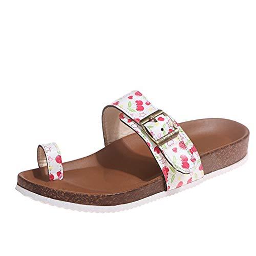 UMore Chanclas de baño para mujer Sandalias Planas Mujer Mulas de Playa de Verano para Mujer Sandalias para Caminar Zapatos cómodos