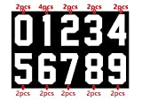 22pc Total 5 Inch Iron On Numbers 0 to 9 for Team Pack Sport Jerseys T Shirts Athletic Number Transfers (White kit)