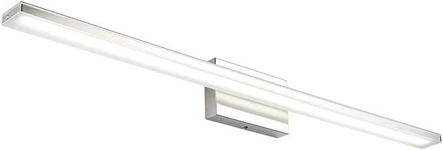 Ralbay 40in LED Modern Vanity Lights Bathroom Vanity Lighting Fixtures Stainless Steel Wall Lights for Bathroom Cool White Light 5500K