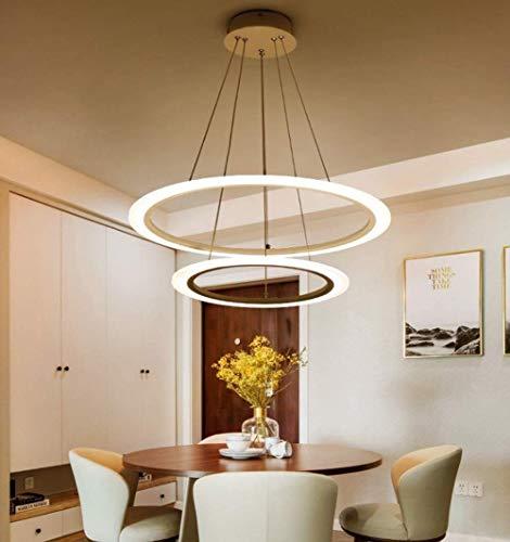 Candelabro LED, Candelabro, Diseño de 2 Anillos de Altura Ajustable, Candelabro Moderno, Sala de Estar Mesa de Comedor Iluminación Interior del Pasillo