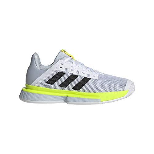 adidas SoleMatch Bounce W, Zapatillas de Tenis Mujer, FTWBLA/NEGBÁS/Amasol, 40 EU