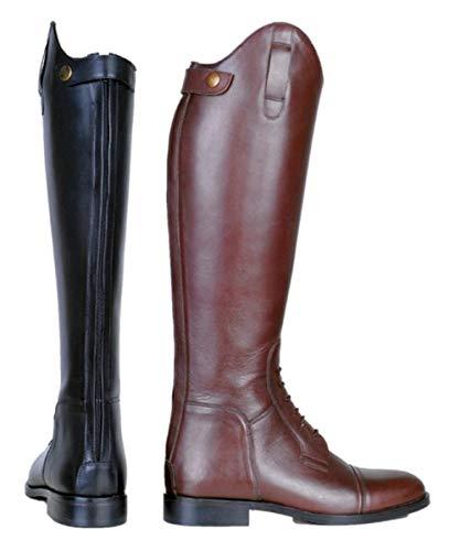 HKM Stivali da Equitazione da Uomo Spain in in Morbida Pelle, Uomo, Pantaloni, 4000315319190, 9100 Nero, 36 EU