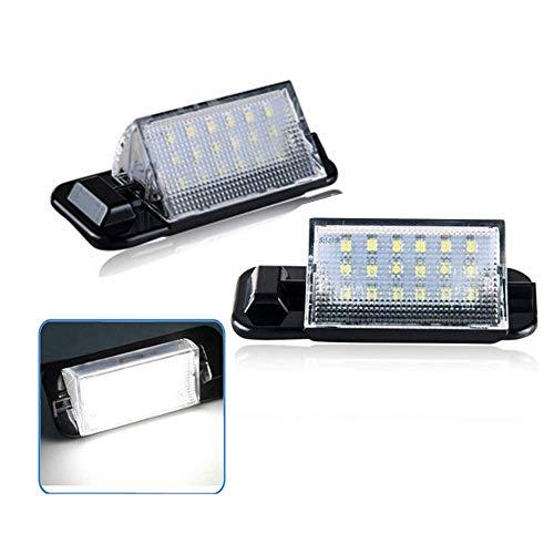 Yijueled Iluminación LED para matrícula, lámpara de matrícula, reflectores, resistente al agua, para 3 series E36 318i 318is 318ti 320i 323i 325i 325is 328i 328is M3