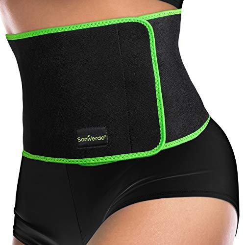 SaniVerde Rückenbandage Waist Trainer mit Klettverschluss - entlastet die Rückenmuskulatur, Lendenwirbelstütze zur Haltungskorrektur (S/M)