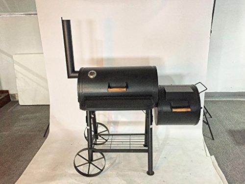 KIUG 55kg XXL Texas Smoker BBQ GRILLWAGEN Holzkohle-Grill Grillkamin ca. 2,0 mm Stahl Profi-QUALITÄT