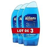 Williams Ice Fresh Gel de Ducha - 3 Recipientes de 250 ml - Total: 750 ml