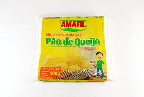 Amafil - Cheese Bread Mix - 17.64 Oz (PACK OF 2) | Mistura p/ Pão de Queijo | Mezcla vp/ Pan de Quejo - 500g