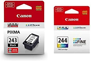 Canon PG-243 Black Ink Cartridge Compatible to iP2820 MX492, MG2420, MG2520, MG2920, MG2922, MG2924 MG3020, MG2525, TS3120, TS302, TS202 and TR4520 AND CL-244 Color Ink Cartridge