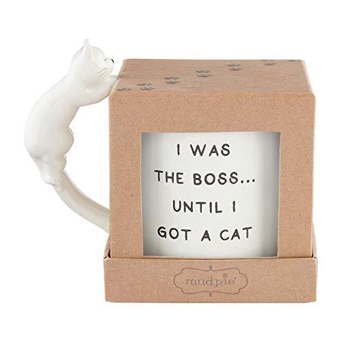 Mud Pie 43500108B - Tazas de gato en caja, diseño de Dolomite, Boss