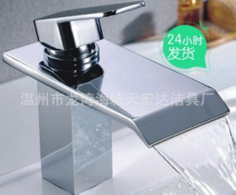 ETERNAL QUALITY Badezimmer Waschbecken Wasserhahn Messing Hahn Waschraum Mischer Mischbatterie Warme und kalte Becken tippen, Business Set-Tag Makro der Wasserhahn warmes