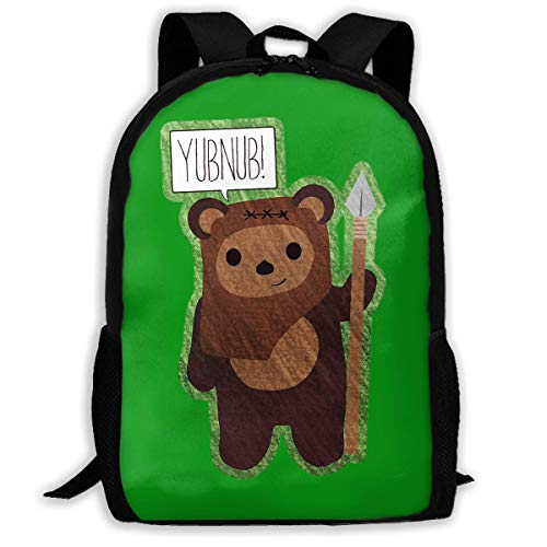orangefruit School Backpack, Cute Ewok! YUBNUB!!,Water-resistant Daypack For Student College Schoolbag,Laptop Bookbag For Travel Business