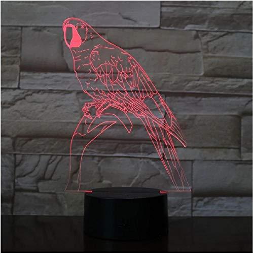 Lámpara de noche 3D Ramas de pájaro Decoración Atmósfera Luz de noche Mesa de escritorio 7 Cambio de color Lava Juguetes para niños Regalo de vacaciones