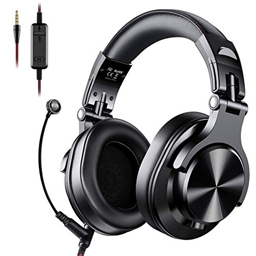 XIANG Gaming Headset, A71 Gaming Headset DJ Hoofdtelefoon Stereo Over Ear Bedraad Hoofdtelefoon met Microfoon voor PC PS4